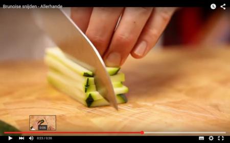 brunoise snijtechniek kookcursus